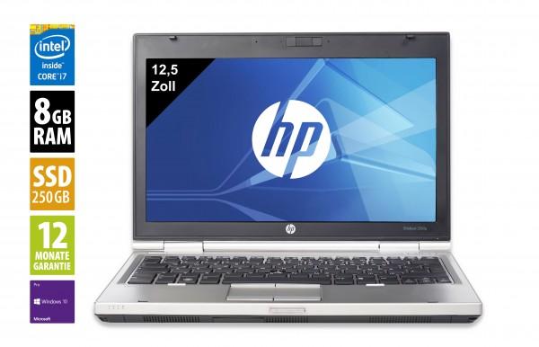 HP 2560p - 12,5 Zoll - Core i7-2620M @ 2,7 GHz - 8GB RAM - 250GB SSD - DVD-RW - WXGA (1366x768) - Win10Pro