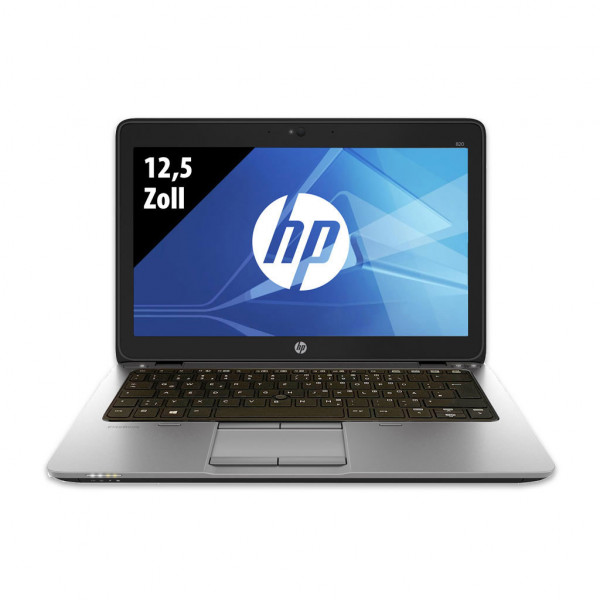 HP EliteBook 820 G1 - 12,5 Zoll - Core i7-4600U @ 2,1 GHz - 8GB RAM - 250GB SSD - WXGA (1366x768) - Webcam - Win10Home