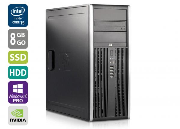 Gaming PC - HP Elite 8300 CMT - Core i5-3470 @ 3,2 GHz - 8GB RAM - 1000GB HDD - 250GB SSD - DVD-ROM - Nvidia GTX 1050 - Win10Pro