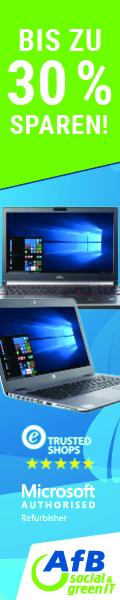 Werbebanner AfB social & green IT Bis zu 30% auf alle Notebooks 120x600