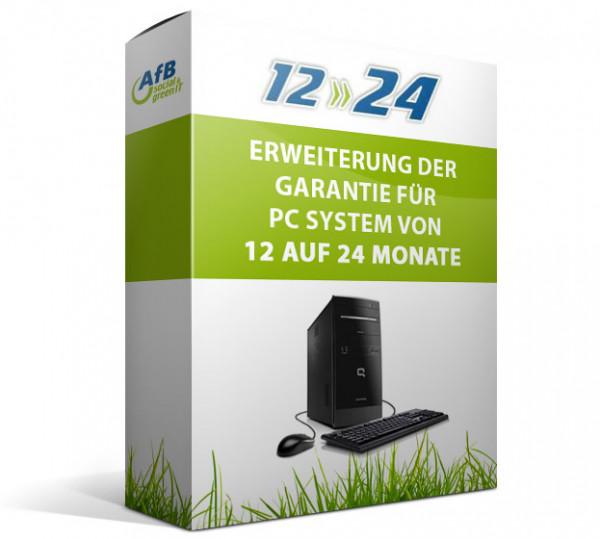 Erweiterung der Garantie für PCs von 12 auf 24 Monate