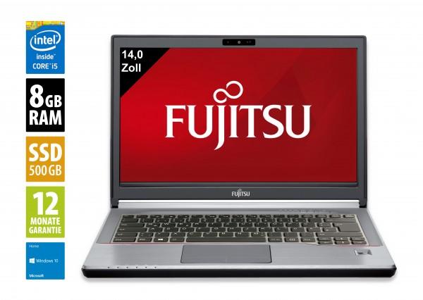 Fujitsu LifeBook E746 - 14,0 Zoll - Core i5-6300U @ 2,4 GHz - 8GB RAM - 500GB SSD - DVD-RW - FHD (1920x1080) - Webcam - Win10Home