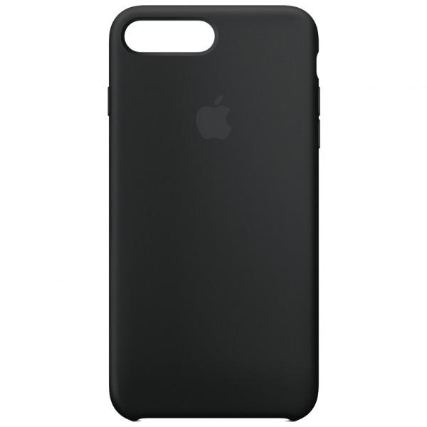 Apple Silikon Case - Handyhülle (iPhone 7/8 Plus) - Schwarz