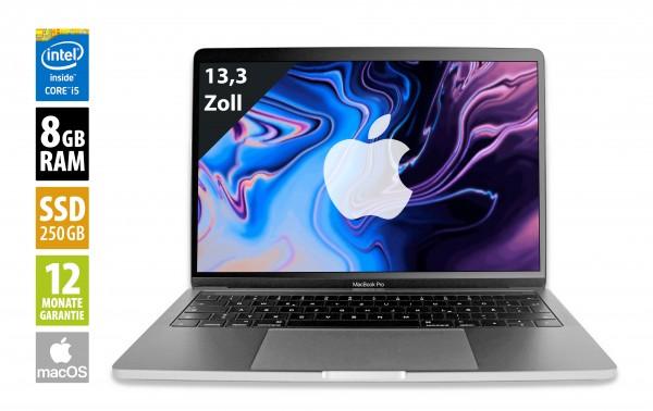 Apple MacBook Pro (2018) spacegrau - 13,3 Zoll - Core i5-8259U @ 2,3 GHz - 8GB RAM - 250GB SSD - WQXGA (2560x1600) - Touch Bar - Webcam - macOS