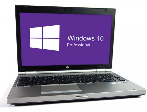HP EliteBook 8570p - 15,6 Zoll - Core i7-3520M @ 2,9 GHz - 8GB RAM - 250GB SSD - DVD-RW - WSXGA (1600x900) - Win10Pro