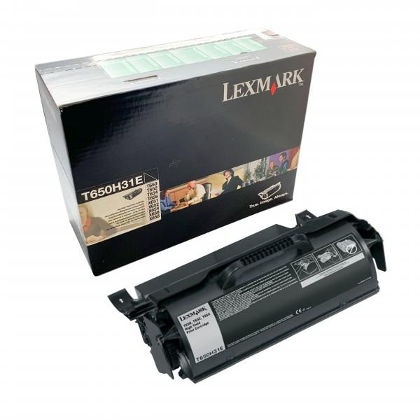 Lexmark Toner T650H31E Schwarz - Hochleistungskartusche (25.000 Seiten)