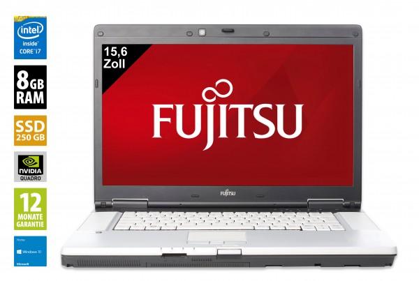 Fujitsu Celsius H710 - 15,6 Zoll - Core i7-2720QM @ 2,2 GHz - 8GB RAM - 250GB SSD - DVD-RW - FHD (1920x1080) - Nvidia Quadro 1000M - Webcam - Win10Home