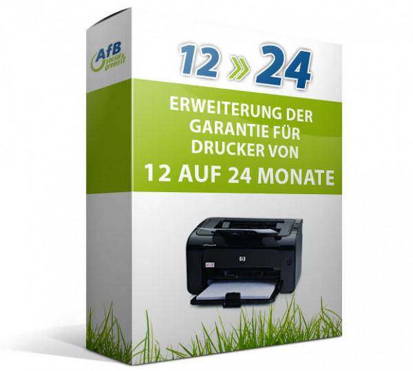 Erweiterung der Garantie für Drucker von 12 auf 24 Monate