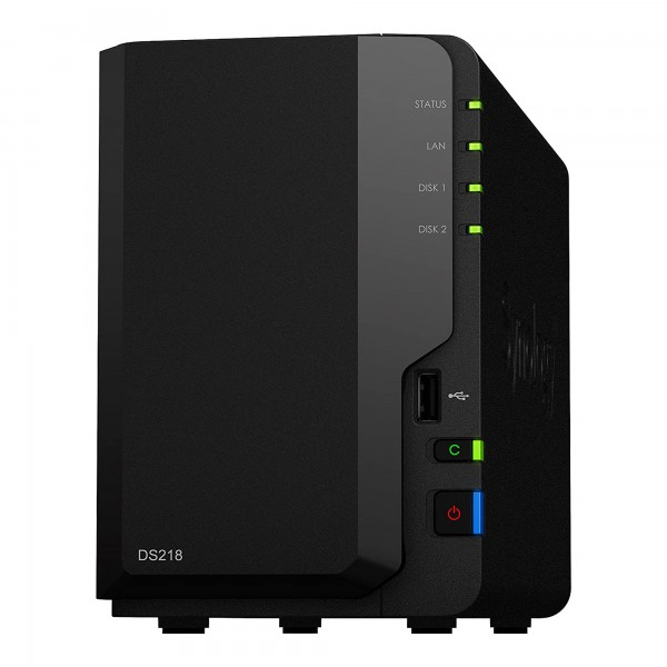Synology DiskStation DS218 - NAS-Server - Realtek RTD1296 @ 1,4Ghz - 2GB RAM - ohne HDD