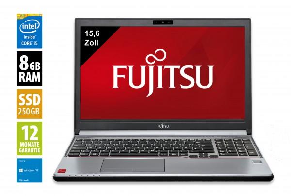 Fujitsu LifeBook E753 - 15,6 Zoll - Core i5-3340M @ 2,7 GHz - 8GB RAM - 250GB SSD - FHD (1920x1080) - Webcam - Win10Home