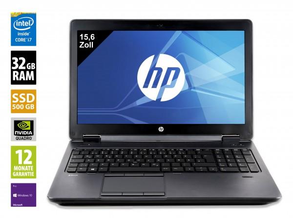 HP ZBook 15 G3 - 15,6 Zoll - Core i7-6820HQ @ 2,70 GHz - 32GB RAM - 500GB SSD - Nvidia Quadro M2000M - FHD (1920x1080) - Webcam - Win10Pro