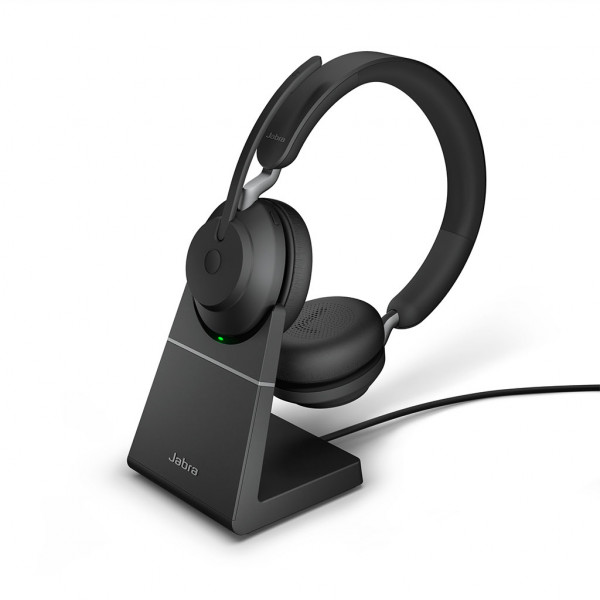 Jabra Evolve2 65 - USB-A MS Stereo - Headset - On-Ear - kabellos + Ladestation