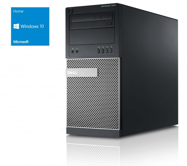 Dell Optiplex 7010 MT - Core i3-3240 @ 3,4 GHz - 4GB RAM - 128GB SSD - DVD-ROM - Win10Home