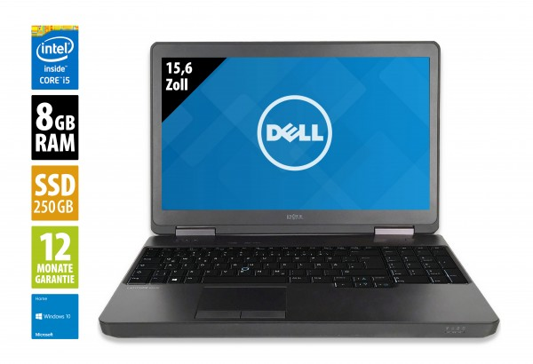 Dell Latitude E5540 - 15,6 Zoll - Core i5-4300U @ 1,9 GHz - 8GB RAM - 250GB SSD - DVD-RW - FHD (1920x1080) - Win10Home