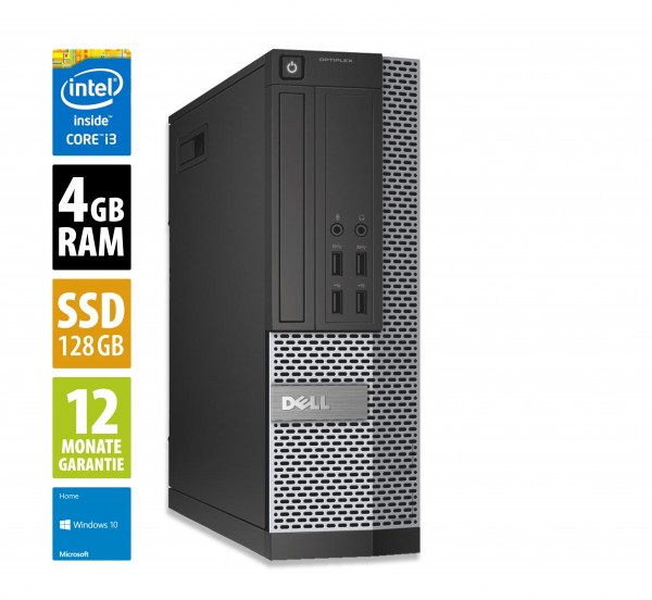 Dell Optiplex 7010 SFF - Core i3-3245 @ 3,4 GHz - 4GB RAM - 128GB SSD - DVD-RW - Win10Home