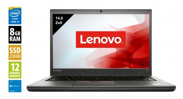 Lenovo ThinkPad T450s - 14,0 Zoll - Core i5-5200U @ 2,2 GHz - 8GB RAM - 250GB SSD - WSXGA (1600x900) - Webcam - Win10Home