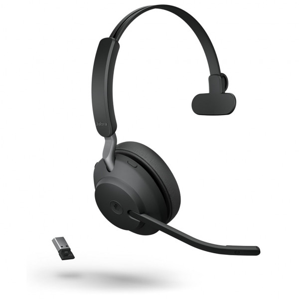 Jabra Evolve2 65 - USB-A MS Mono - Headset - On-Ear - kabellos