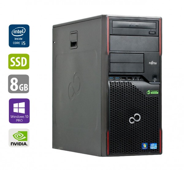 Gaming PC - Fujitsu Esprimo P910 MT - Intel Core i5-3470 @ 3,2 GHz - 8GB RAM - 1000GB HDD - 250GB SSD - DVD-RW - Nvidia GTX1050 - Win10Pro