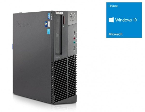 Lenovo ThinkCentre M82 SFF - Pentium G630 @ 2,7 GHz - 4GB RAM - 250GB HDD - DVD-ROM - Win10Home