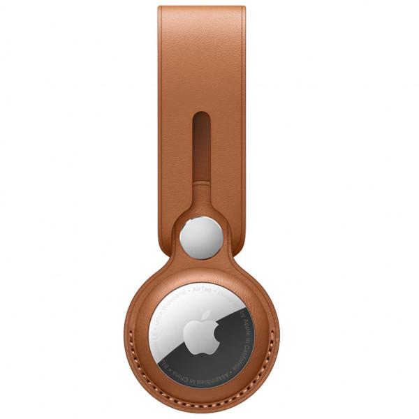 Apple AirTag Leather Loop - Anhänger - Echtleder - Saddle Brown