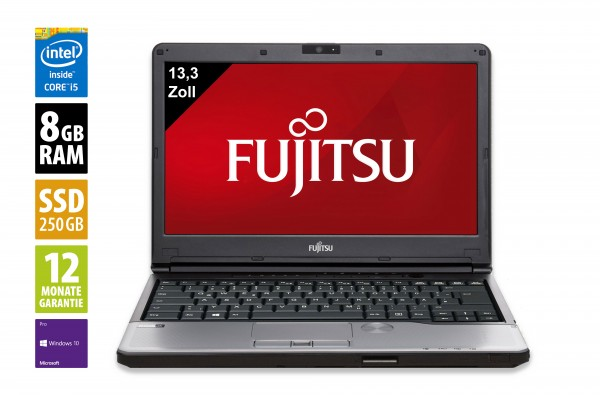 Fujitsu LifeBook S762 - 13,3 Zoll - Core i5-3320M @ 2,6 GHz - 8GB RAM - 250GB SSD - DVD-RW - WXGA (1366x768) - Webcam - Win10Pro