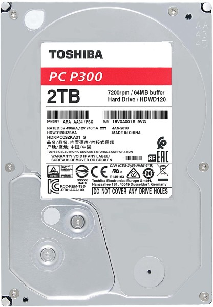 Toshiba P300 - HDD - intern - 3,5 Zoll - SATA - 2TB