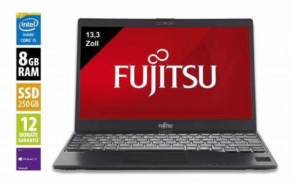 Fujitsu LifeBook U937 - 13,3 Zoll - Core i5-7200U @ 2,5 GHz - 8GB RAM - 250GB SSD - FHD (1920x1080) - Webcam - Win10Pro