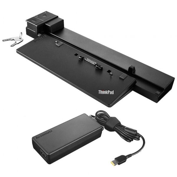Lenovo ThinkPad Pro Dock - Dockingstation (40A10090EU) - mit Netzteil 90W - mit Schloss & Schlüssel