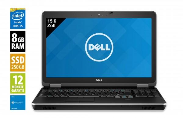 Dell Latitude E6540 - 15,6 Zoll - Core i5-4210M @ 2,6 GHz - 8GB RAM - 250GB SSD - DVD-RW - FHD (1920x1080) - Win10Home