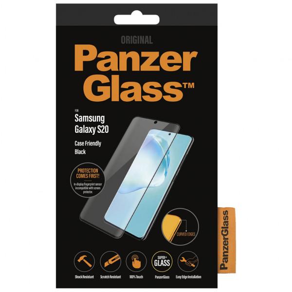 PanzerGlass - Displayschutzfolie ( Samsung Galaxy S20) - Edge-to-Edge - Schwarz