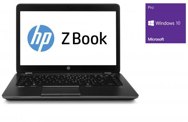 HP ZBook 14 - 14,0 Zoll - Core i5-5200U @ 2,2 GHz - 8GB RAM - 500GB SSD - WSXGA (1600x900) - Radeon R7 M260X - Win10Pro