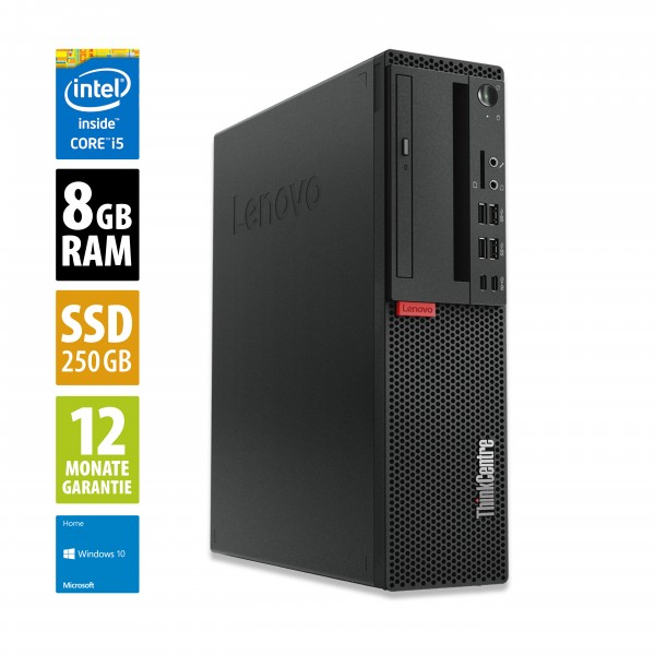 Lenovo ThinkCentre M910s SFF - Core i5-7500 @ 3,4 GHz - 8GB RAM - 240GB SSD - DVD-RW - Win10Home
