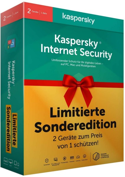 Kaspersky Internet Security 2er-Lizenz für 1 Jahr Limited Edition