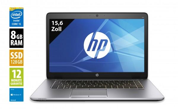 HP EliteBook 850 G2 - 15,6 Zoll - Core i5-5300U @ 2,3 GHz - 8GB RAM - 128GB SSD - WXGA (1366x768) - Webcam - Win10Home