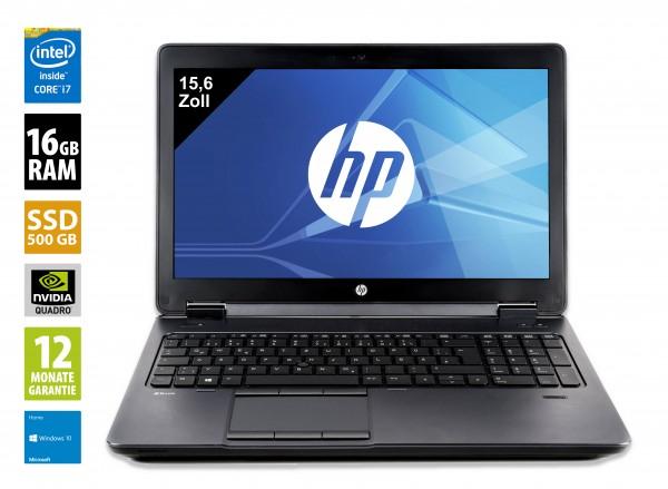 HP ZBook 15 G3 - 15,6 Zoll - Core i7-6820HQ @ 2,7 GHz - 16GB RAM - 500GB SSD - Nvidia Quadro M2000M - FHD (1920x1080) - Webcam - Win10Home