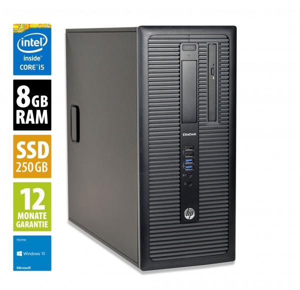 HP EliteDesk 800 G1 MT - Core i5-4590 @ 3,3 GHz - 8GB RAM - 250GB SSD - DVD-RW - Win10Home