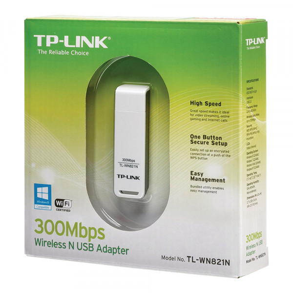 TP-Link TL-WN821N Wireless N USB Adapter - Netzwerkadapter