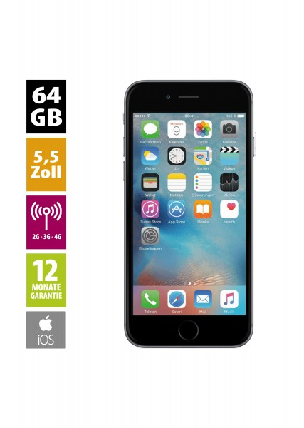 Apple iPhone 6 Plus (64GB) - Space Gray