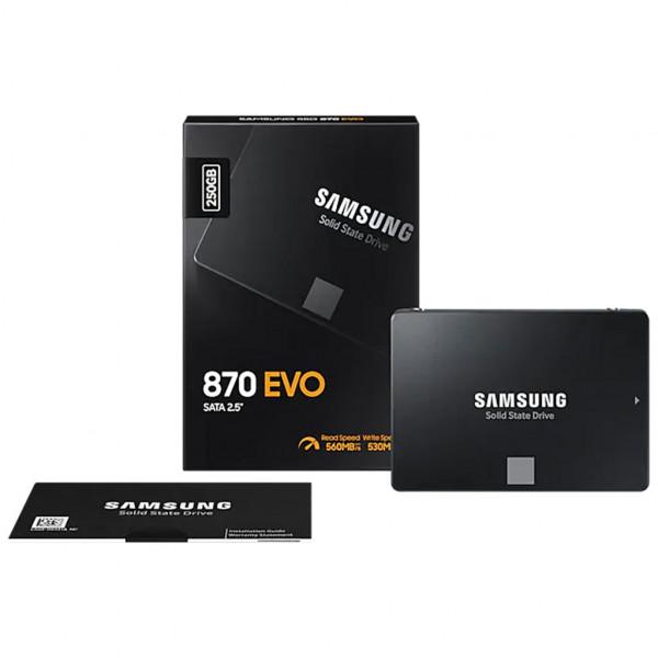 Samsung 870 EVO - 250 GB - SSD - 2,5 Zoll - SATA III - intern