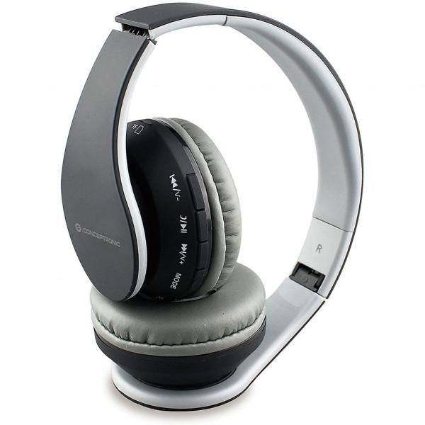 Conceptronic PARRIS 01B - Over-ear Kopfhörer - Bluetooth - microSD - Schwarz