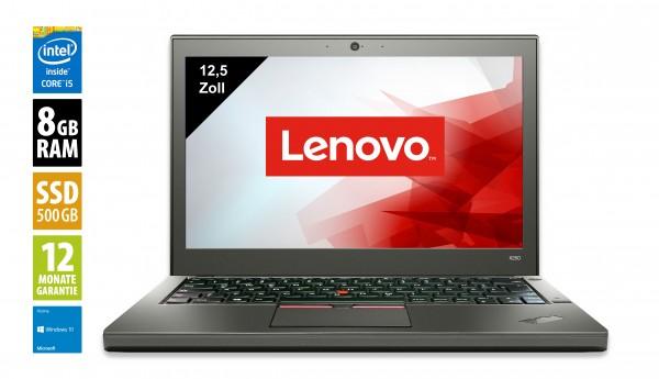 Lenovo ThinkPad X250 - 12,5 Zoll - Core i5-5300U @ 2,3 GHz - 8GB RAM - 500GB SSD - WXGA (1366x768) - Webcam - Win10Home