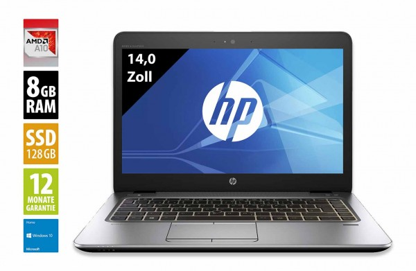 HP EliteBook 745 G3 - 14,0 Zoll - AMD Pro A10-8700B @ 1,8 GHz - 8GB RAM - 128GB SSD  - FHD (1920x1080) - Webcam - Win10Home