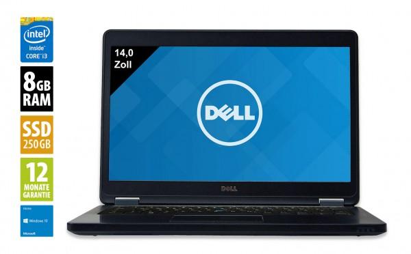 Dell Latitude E5440 - 14,0 Zoll - Core i3-4030U @ 1,9 GHz - 8GB RAM - 250GB SSD - WXGA (1366x768) - Webcam - Win10Home