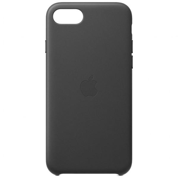 Apple Leder Case - Handyhülle (iPhone 8/7/SE) - Schwarz