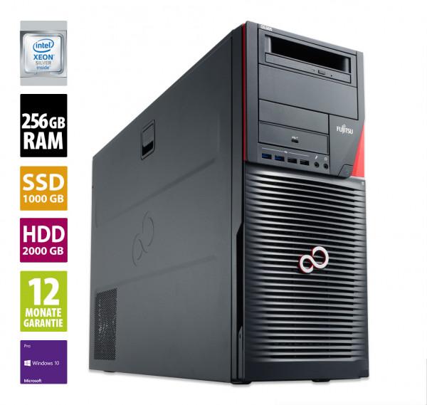 Fujitsu Celsius R970 - Xeon Silver 4214 @ 2,2 GHz - 256GB RAM - 1000GB SSD - 2000GB HDD - DVD-RW - Win10Pro