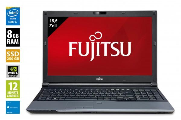 Fujitsu Celsius H720 - 15,6 Zoll - Core i7-3720QM @ 2,6 GHz - 8GB RAM - 250GB SSD - DVD-RW -  FHD (1920x1080) - Webcam - Nvidia Quadro K1000M - Win10Home