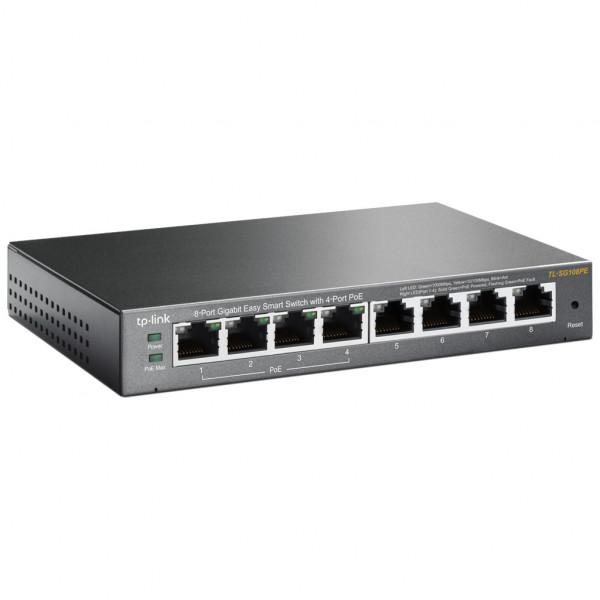 TP-Link Switch - TL-SG108E - 16 Gbit/s - Schwarz
