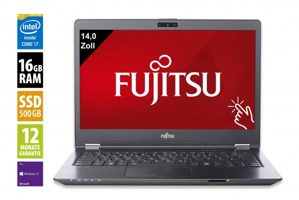 Fujitsu LifeBook U747 vPro - 14,0 Zoll - Core i7-7600U @ 2,8 GHz - 16GB RAM - 500GB SSD - FHD (1920x1080) - Touch - Win10Pro