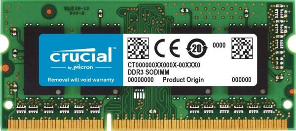 Crucial - 4GB - SODIMM - DDR3 - 1600MHz - CL17 - RAM