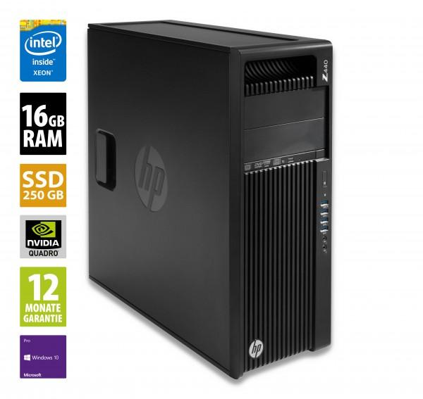 HP Workstation Z440 MT - Xeon E5-1620 v3 @ 3,5 GHz - 16GB RAM - 250GB SSD - DVD-RW - Nvidia Quadro K620 - Win10Pro